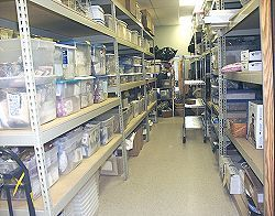 A look down one of our inventory aisles - click for a larger view