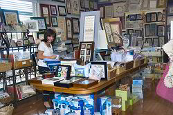 Here's Liz out in the shop collection things for a mail order - click for a larger view
