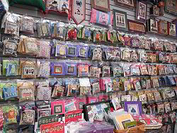 Our Great Wall of Mill Hill bead kits - click for a larger view