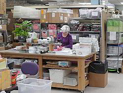 Here's Terry at the shipping table - click for a larger view