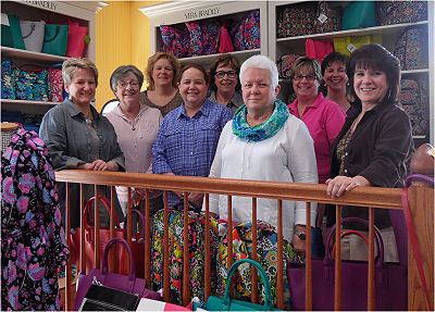 Part of our staff up in our Vera Bradley area