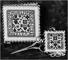 Blackwork Needlebook and Fob from The Sweetheart Tree - click to see more