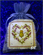 Lavender Bee Sachet from The Bee Cottage - click to see more