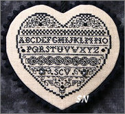 Blackwork Heart from The Sweetheart Tree - click for more