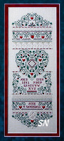 Holly & Hearts Sampler from The Sweetheart Tree - click to see more
