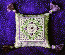 Plum Fancy Pin Cushion from The Sweetheart Tree - click to see more