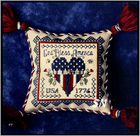 Patriotic Pin Cushion from The Bee Cottage - click to see more