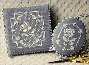 White Rose Needlebook and Fob from The Bee Cottage - click to see more
