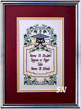 Graduation Sampler from The Sweetheart Tree - click to see more