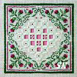 Teeny Hardanger V from The Sweetheart Tree - click to see more