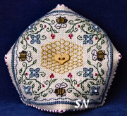 Bumblebee Biscornu Kit from The Sweetheart Tree - click to see more