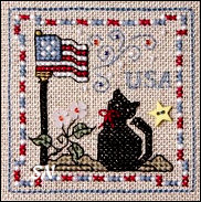 Patriotic Kitty from The Sweetheart Tree - click to see more