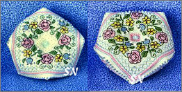 Summer Flowers Biscornu Pin Cushion from The Sweetheart Tree - click to see more