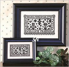 Tiny Blackwork I Welcome Sampler from The Sweetheart Tree - click to see more