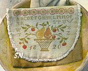 Stacy Nash Pears & Strawberries Sampler Sewing Bag -- click to see more