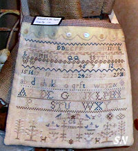 Buttermilk and Blue Sampler Sewing Bag from Stacy Nash -- click to see more