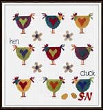 Chicken Sampler from The Stitching Shed -- click to see a larger view