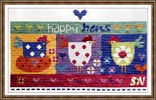 Happy Hens from The Stitching Shed -- click to see a larger view