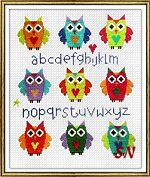 Owl Sampler from The Stitching Shed -- click to see a larger view