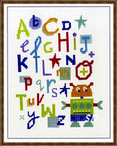 Robot Alphabet from The Stitching Shed -- click to see a larger view