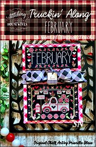 Stitching With The Housewives February Truckin Along - click to see more