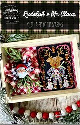 Stitching With The Housewives Rudolph & Mr Claus - click to see more