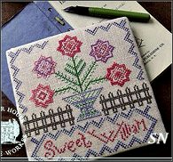 Sweet William Ladies Garden Journal from Summer House Stitch Workes - click for more