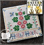 Hollyhock Ladies Garden Journal from Summer House Stitch Workes - click for more