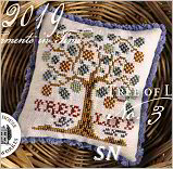 Fragments in Time 2019 #3 Tree of Life from Summer House Stitch Workes - click for more