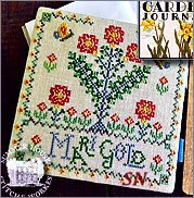 Marigold Ladies Garden Journal from Summer House Stitch Workes - click for more