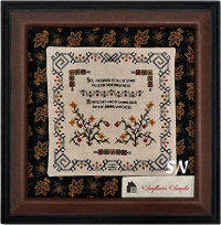Starflower Sampler from Summer House Stitche Workes - click to see more