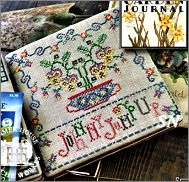 Johnny Jump Up Ladies Garden Journal from Summer House Stitch Workes - click for more