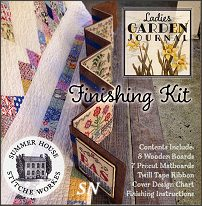 Finishing Kit for Ladies Garden Journal from Summer House Stitch Workes - click for more