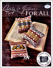 Liberty & Justice For All from Summer House Stitch Workes - click for more