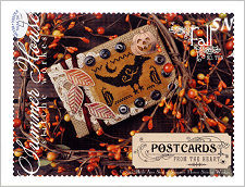 Postcards From The Heart #10 Fall from Summer House Stitche Workes - click to see more