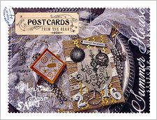 Postcards From The Heart #12 New Year from Summer House Stitche Workes - click to see more
