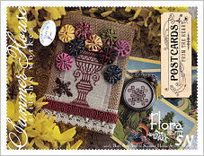 Postcards From The Heart #5 Flora from Summer House Stitche Workes - click to see more
