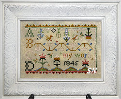 Sarah Jane Grant 1845 Deconstructed from Summer House Stitch Workes - click for more