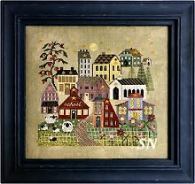 Hilltop Village in Spring from Thistles - click for a larger view