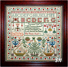 Eliza Telfer Sampler from Threads of Gold -- click to see a larger view!