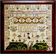 Lucy Dunning Sampler from Threads of Gold -- click to see a larger view!