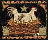 Primitive Hen in Basket PN200 from Teresa Kogut -- click to see more