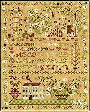 XS4000 Faith Hope Peace Love Sampler from Teresa Kogut -- click to see more