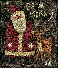 Be Merry in punchneedle from Teresa Kogut -- click to see more