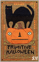 Primitive Halloween in cross stitch from Teresa Kogut -- click to see more