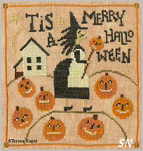 Merry Halloween in cross stitch from Teresa Kogut -- click to see more