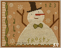 Frosty in cross stitch from Teresa Kogut -- click to see more