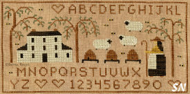 Honey & Wool Farm in cross stitch from Teresa Kogut -- click to see more
