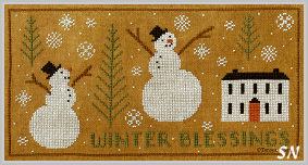 Winter Blessings in cross stitch from Teresa Kogut -- click to see more