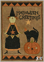 Halloween Greetings in cross stitch from Teresa Kogut -- click to see more